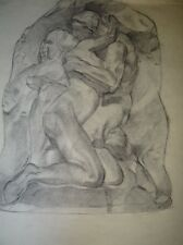 DESSIN ORIGINAL 62*50 cm COUPLE LE BAISER
