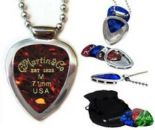 Martin & Sons Guitar Pick Set & Pickbay guitar pick holder Necklace Gr8 Gift!