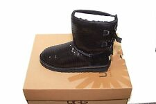 UGG K Bailey Bow Sparkle 1006197K K/Black SZ 6 NIB $150