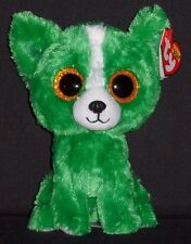 """TY BEANIE BOOS - DILL the 6"""" GREEN DOG - GIFT SHOW EXCLUSIVE -MINT with MINT TAG"""