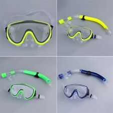 Swimming Scuba Semi-dry Snorkel Breath Tube + Diving Mask Glass Lens Set JF