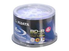 200 RIDATA 4X White Inkjet Printable Blu-Ray BD-R 25GB Blank Disc CAKE BOX