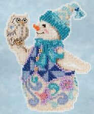 Mill Hill Jim Shore Snowy Owl Snowman Christmas Beaded Cross Stitch Kit 2015