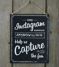 Wedding/Party Instagram Sign, Chalkboard Sign Venue Decoration - Ginger Ray