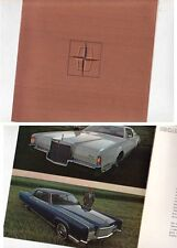 1972 LINCOLN CONTINENTAL & MARK IV Small Format 4 Page US Brochure