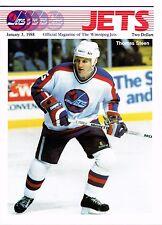 1988 Winnipeg Jets Home vs Detroit Red Wings NHL Hockey Program #122