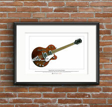 George Harrison's Chet Atkins Tennessean Limited Edition Fine Art Print A3 size