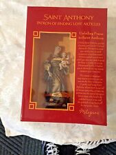 """NEW in Box, """"ST. ANTHONY 4"""" STATUE"""" by Milagros  PRISTINE & EXQUISITE DETAILING"""
