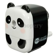 Desktop Pencil Sharpener Clamp Manual Crank Cartoon Panda Office School Office