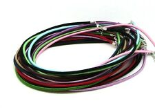 10 Pcs -  Mixed Pack Of Silk Necklace Cords With Lobster Jewellery Craft S7