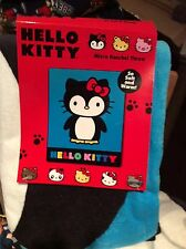 Hello Kitty Ice Blue Penguin Micro Raschel Throw Blanket Fleece New