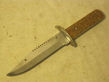 vintage small hunting knife Pakistan full tang double rivet serrated fighting