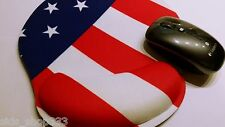 "USA FLAG wrist rest mouse pad Anti slip optical COMPUTER MOUSE PAD 10""x9"""