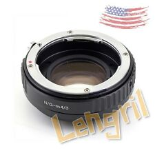 US Focal Reducer Speed Booster Nikon F mount G Lens toMicro4/3 Adapter M43 E-PL7