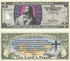 Jesus Christ Lords Prayer Million Dollar Bill Collectable Fun Money Novelty Note