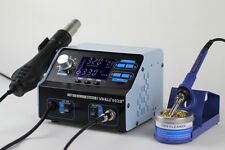 UK-YIHUA 992D+ 2 IN 1 LCD SMD HOT AIR REWORK STATION WITH SOLDERING IRO NEW 220V