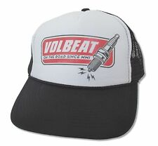 Volbeat Spark Plug On The Road White and Black Truckers Hat