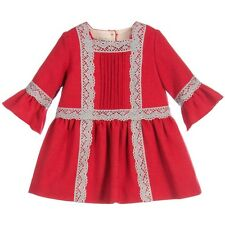 Nanos baby rouge laine robe 24 mois