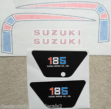 SUZUKI  TS185C PETROL TANK AND SIDE PANEL DECAL SET
