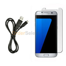 USB Micro Charger Cable+LCD Screen Shield Protector for Samsung Galaxy S7 Edge