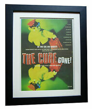 THE CURE+Gone+TOUR+POSTER+AD+RARE ORIG 1996+QUALITY FRAMED+EXPRESS GLOBAL SHIP
