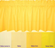 "New 40""- 60""-80"" solid GRAY navy PEACH yellow PURPLE light weight fabric VALANCE"