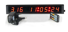 1'' Red Indoor Electric LED Countdown Clock Countdown/Up Day Until Special Event