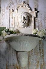 FONTAINE MURALE EXTERIEURE STYLE ROMANTIQUE FONTE BLANC RETRO VINTAGE ANCIEN