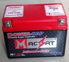 Motorcycle Battery Supercapacitor Macbat 50-150CC 60 CCA Will Out Last Your Bike