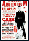 Johnny Cash Repro Tour Poster McElroy