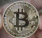 Gold Plated Bitcoin Coin collectible gift Physical BTC Coin Art Collection act