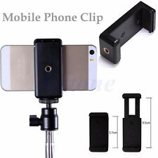 Mobile Cell phone Clip Bracket Holder Mount Adapter Stand Tripod Selfie