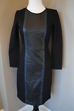 NWT J Crew Leather Panel Dress Day to Night Sz 6 Small B1715 $228