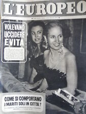 L' EUROPEO n°33 1951 Speciale volevano uccidere EVITA PERON [C76]