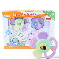 4pcs Mixed Baby Rattles Set Learning Fun Development Toys 0-12 Months