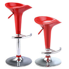 Set of 2 Modern Bombo Style Swivel Barstools Adjustable Counter Chair Bar Stools