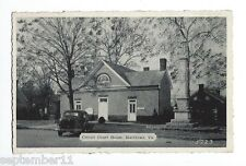 Vintage Postcard Circuit Court House, Matthews, Virginia Note Car w Rumble Seat