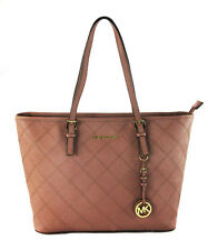 Michael Kors Jet Set Travel Dusty Rose Saffiano Leather Tote Bag MSRP $298
