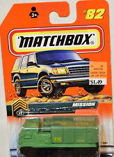 MATCHBOX MISSION - MISSILE LAUNCHER #82 CARD VARIATION