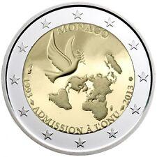 """Monaco 2 euro coin 2013 """"20th Anniversary of UN Membership"""" UNC"""