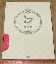 BLOCK B HER Music Story 2 DVD + 50P PHOTOBOOK + 8 PHOTOCARD SET & FOLDED POSTER