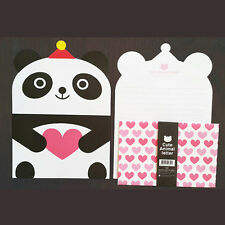 Cute Heart Panda Animals Letter set - 4sh Writing Stationery Paper 2sh Envelope