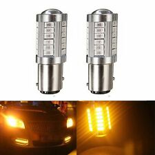 2Pcs Yellow Amber 1157 BAY15D 5730 33SMD LED Turn Signal Tail Brake Backup Light