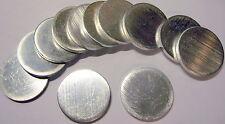 """100 Pcs - 1 3/16"""" Dia. Aluminum Discs, 1/8"""" thick Alloy 6061-T6"""