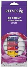 Reeves Artist's Oil Colour Paint Tube Set - 12 x 12ml Assorted Hangpack