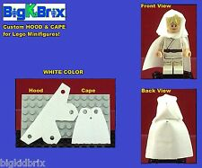 HOOD & CAPE (WHITE) Custom made for LEGO Minifigures PRICE gets you 2 SETS
