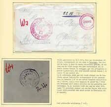 Russia covers 1914 censored PofWARcover Camp BERESOWKA to Wien
