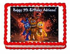 Five nights at Freddy's FNaF 2 party edible image cake topper frosting sheet