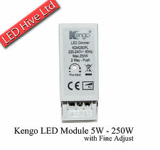 Kengo Universal LED Dimmer Module - 5W - 250W Fine Adjust - Locking Nut - Knob