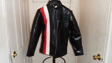 NOS Young Sports Vintage Motorcycle Cafer Rac Men's Size Small Black Jacket